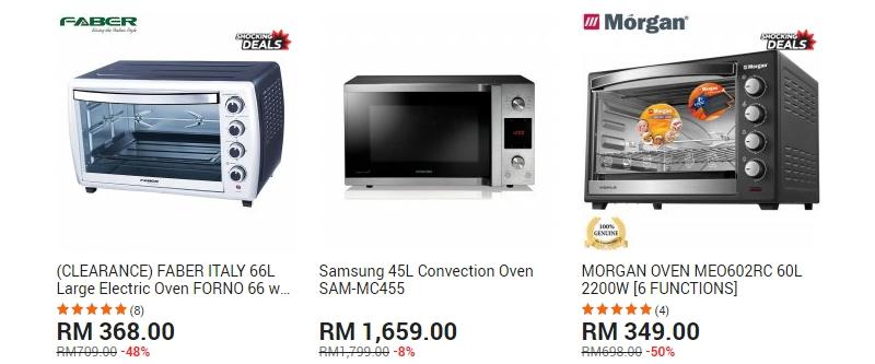 Kalau ada bajet lebih dapatkan ketuhar elektrik yang lebih mahal di website 11Street Malaysia