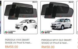Pelindung cahaya matahari complete set untuk kereta ada dijual di website eCommerce Lazada Malaysia
