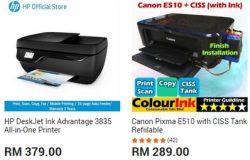 Pencetak terbaik dan bagus di website 11Street Malaysia