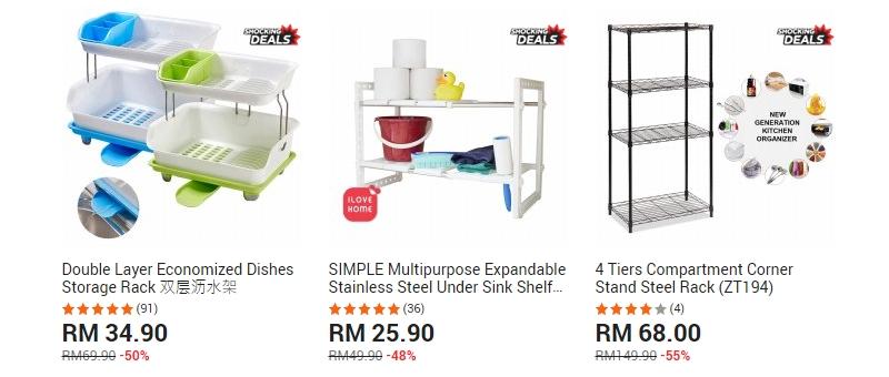 Rak pinggan yang cantik dan praktikal boleh anda dapatkan di website 11Street Malaysia