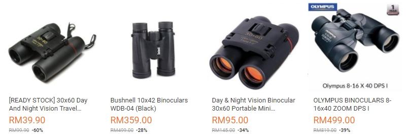 Sila cari dan dapatkan teropong jarak jauh pilihan anda di website eCommerce Lazada Malaysia