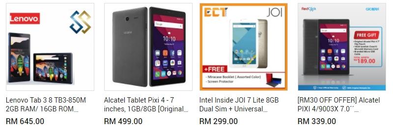Tablet murah dari brand terkenal ada dijual di website 11Street Malaysia