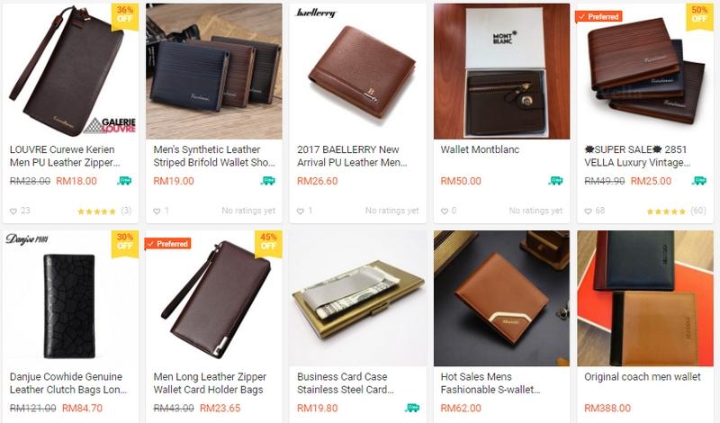 Anda juga boleh menjadi wallet lelaki yang anda mahukan di website Shopee Malaysia