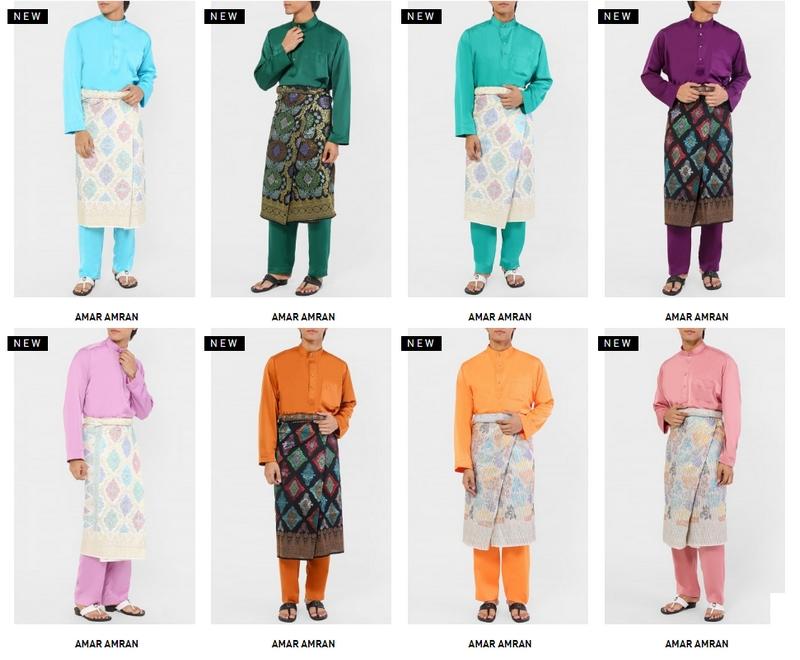 Baju melayu jenis cekak musang yang simple dan kemas di website Fashionvalet Malaysia