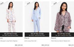 Baju tidur wanita yang berkualiti pula ada dijual di website eCommerce Zalora Malaysia