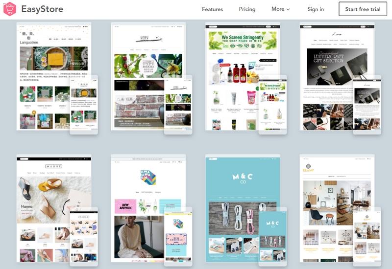 Contoh sebenar reka bentuk website kedai online yang ditawarkan oleh Easystore
