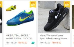 Dapatkan kasut sukan pelbagai jenama dan juga murah di Shopee Malaysia