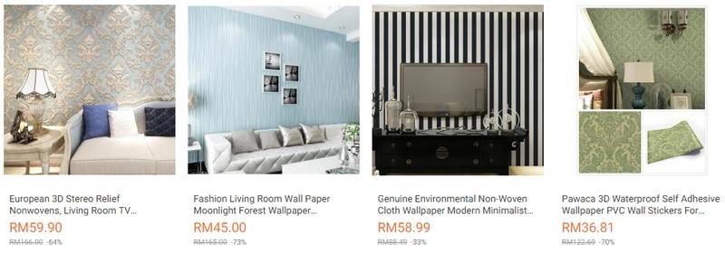 Daptkan pelekat dinding untuk rumah jenis wallpaper yang cantik di Lazada Malaysia