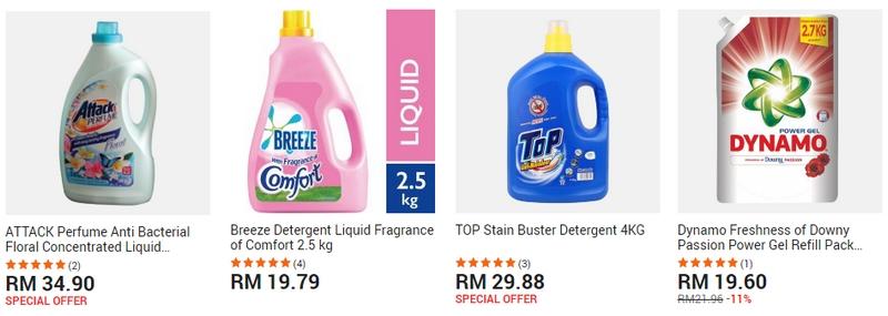 Dapatkan sabun basuh baju jenis liquid cecair melalui laman web 11Street Malaysia