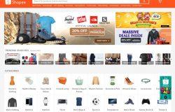 Laman homepage bagi website Shopee Malaysia