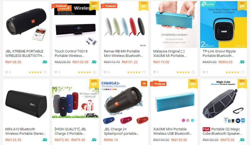 Pelbagai jenis speaker mini kecil tetapi terbaik yang ada dijual di website Shopee Malaysia