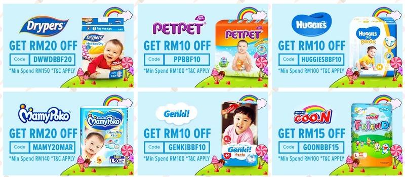 Terdapat banyak diskaun jimat diberikan jika anda borong pampers murah di website Lazada Malaysia