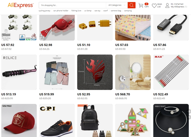 Beli barang murah melalui website ecommerce luar negara di Aliexpress China