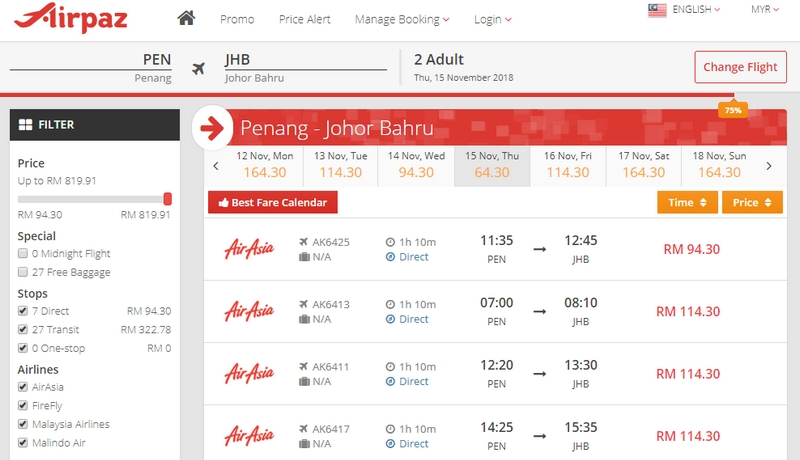 Contoh kalau anda beli tiket kapal terbang melalui website Airpaz